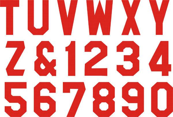 Heat Press Flock Transfer Iron Letters Numbers T Shirt 6 99