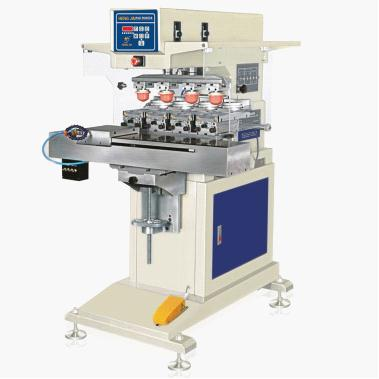 4 color pneumatic sealed ink cup pad printing machine [HP